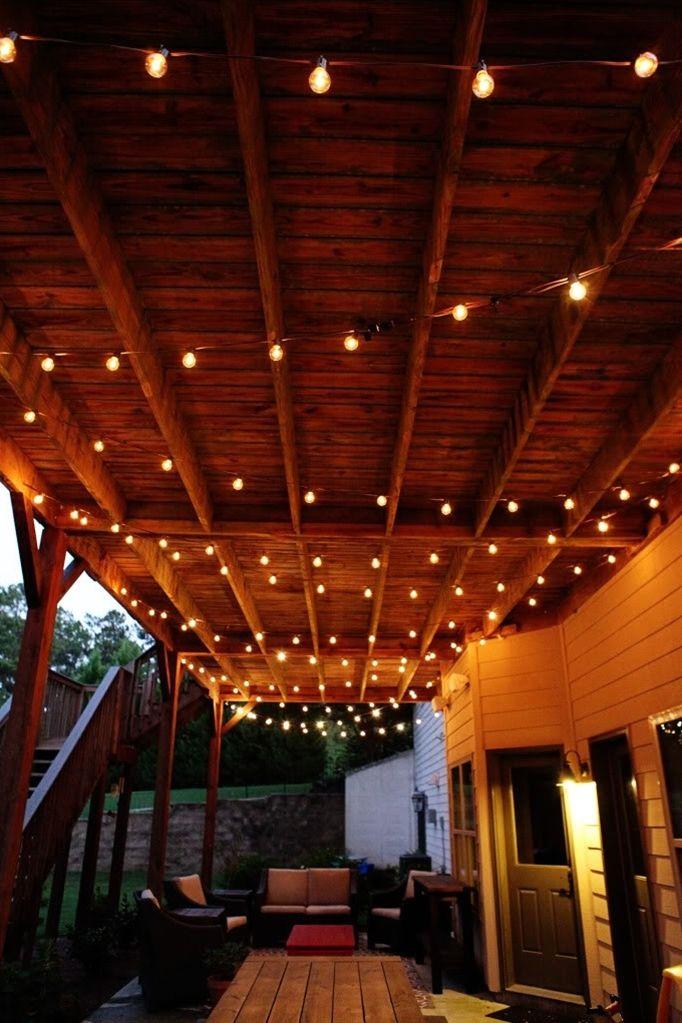 outdoor patio lighting home front pinterest
