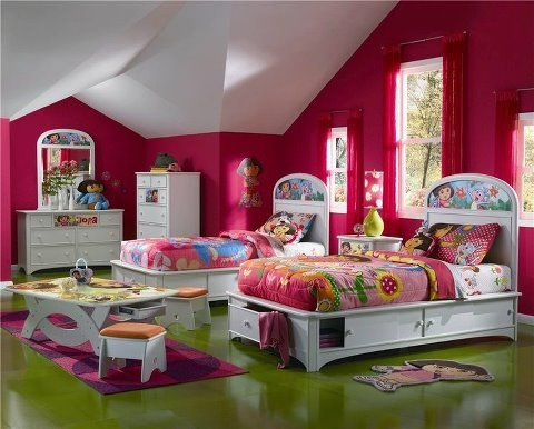 like how this dora bedroom is set up nice