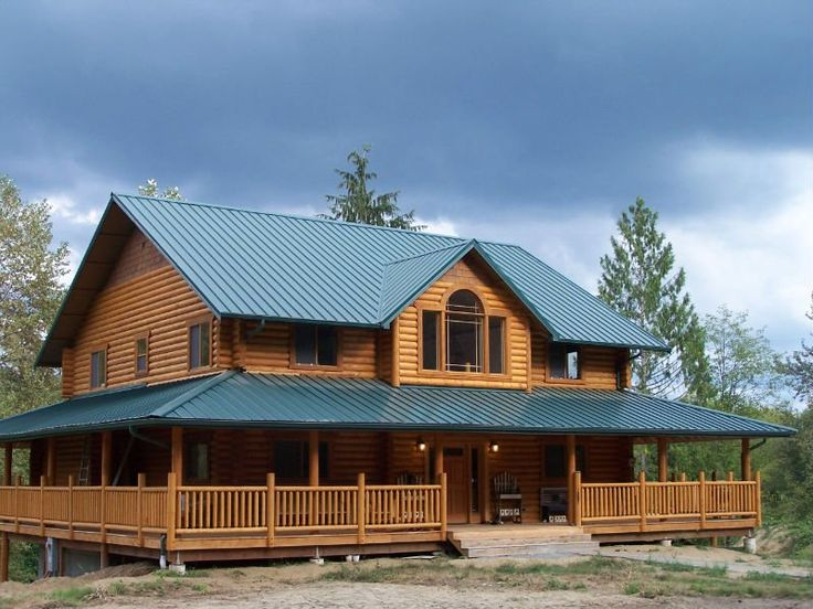 The Wrap Around Porch Gorgeous Log Cabin Plans And