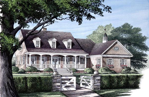 Cape cod country farmhouse southern house plan 86118 for Cape cod cottage house plans