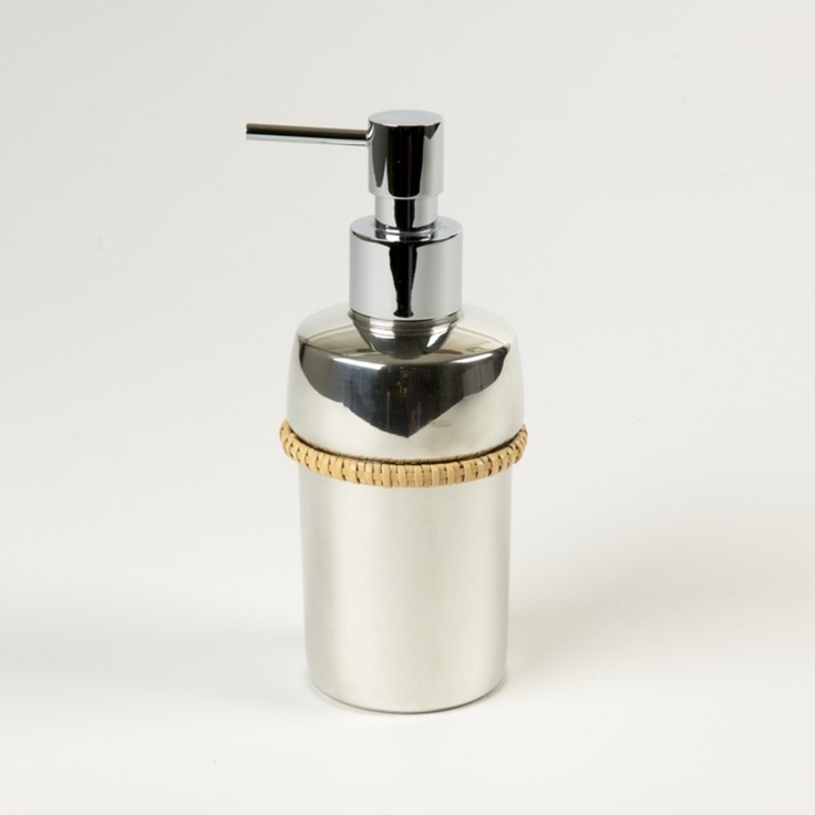 Mercury Pewter Rattan Soap Dispenser Bathroom