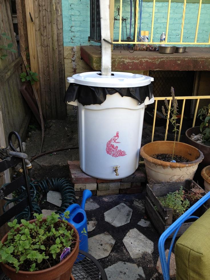 My rain barrel diy gardening pinterest for Diy small rain barrel