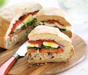 "PAN BAGNAT ~ ""It's the tuna fish sandwich to end all tuna fish ..."