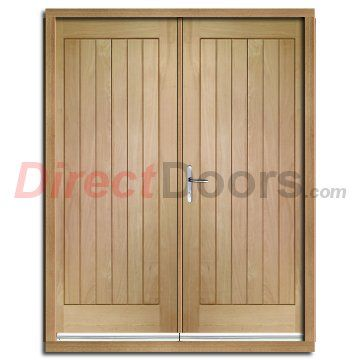 Suffolk exterior oak double door and frame set for External double doors and frames