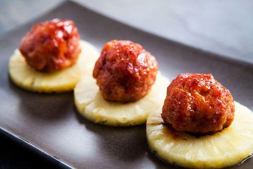 Pineapple Glazed Ham Balls | Recipe