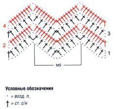 Вязание крючком пуфы зигзаг схемы 28