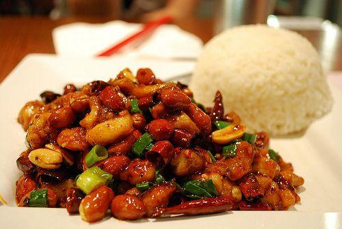 Spicy Peanut Chicken   Asian Food Porn   Pinterest