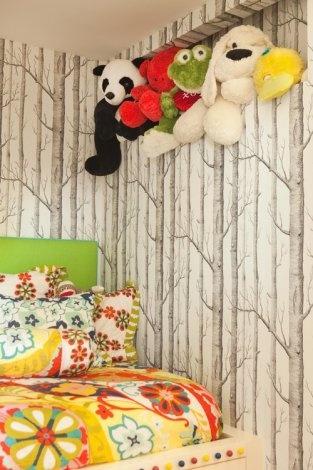 Usa papel tapiz para iniciar un juego imaginativo.