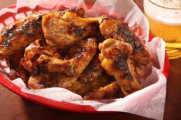 Grilled Maple-Mustard Chicken Wings