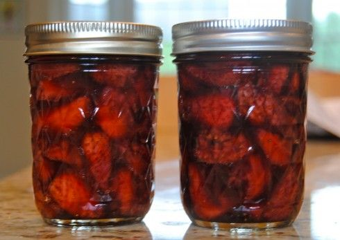 Strawberry balsamic jam...I think this is the winner for my first ...