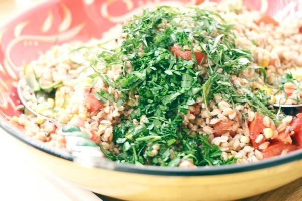 Summer Farro Salad Recipe — Dishmaps
