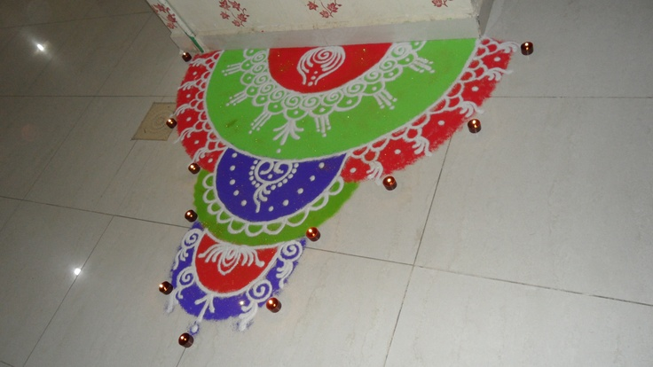 Rangoli my rangolis pinterest for Door rangoli design images new
