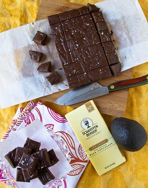 ... Scharffen Berger Chocolate Avocado Fudge @AmazingAvocado #