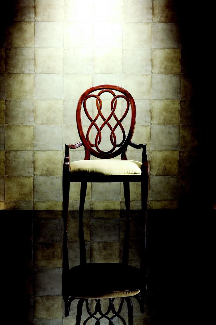 SPLAT BACK ARM CHAIR via @American Drew #designer #home #furniture #chair