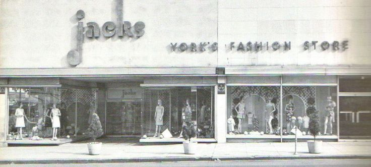 Jacks Clothing Store was located on the northeast corner of W. Market