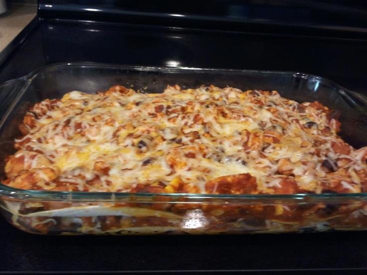 Chicken quesadilla casserole   food   Pinterest
