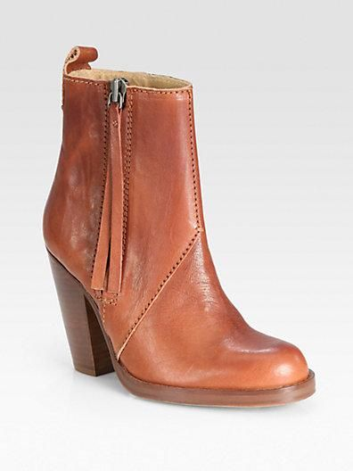 Acne Leather Ankle Boot at Saks