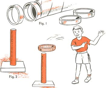 Ring Toss Game with Cardboard Tubes
