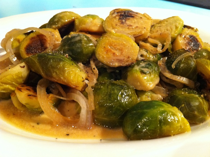 Braised Brussels Sprouts in Dijon sauce | Recipes - Veggie/potato Sid ...