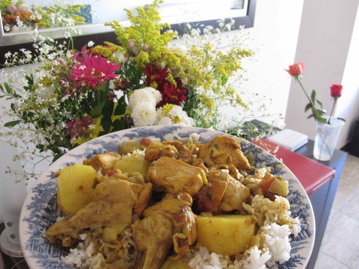 Trinidadian Curry Chicken: Chicken, lime, curry powder, oil, cumin ...