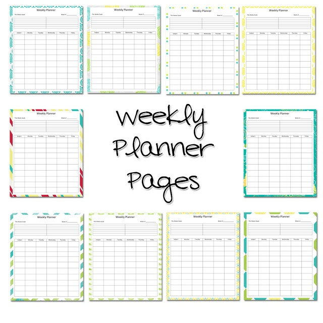 Weekly Lesson Planner*** | FREE Printable Labels & more
