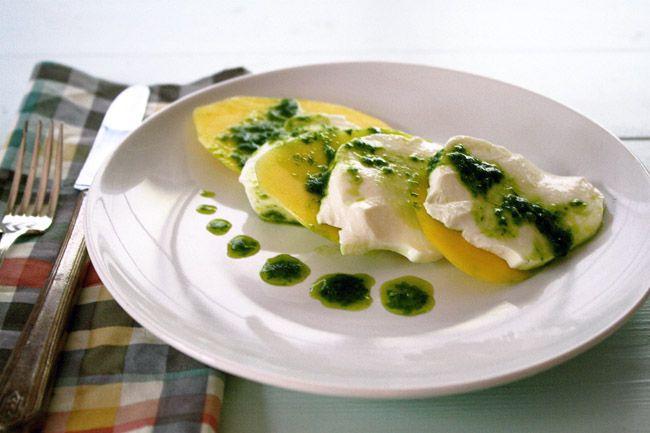 mango caprese with basil vinaigrette   Recipes   Pinterest