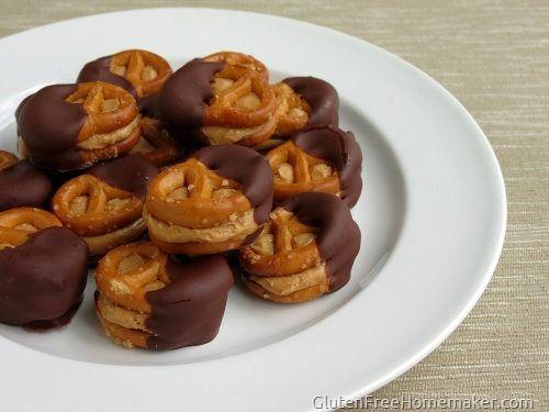 GF Peanut Butter Pretzels