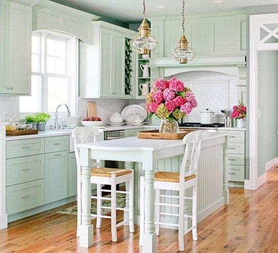 seafoam kitchen  Kitchens  Pinterest