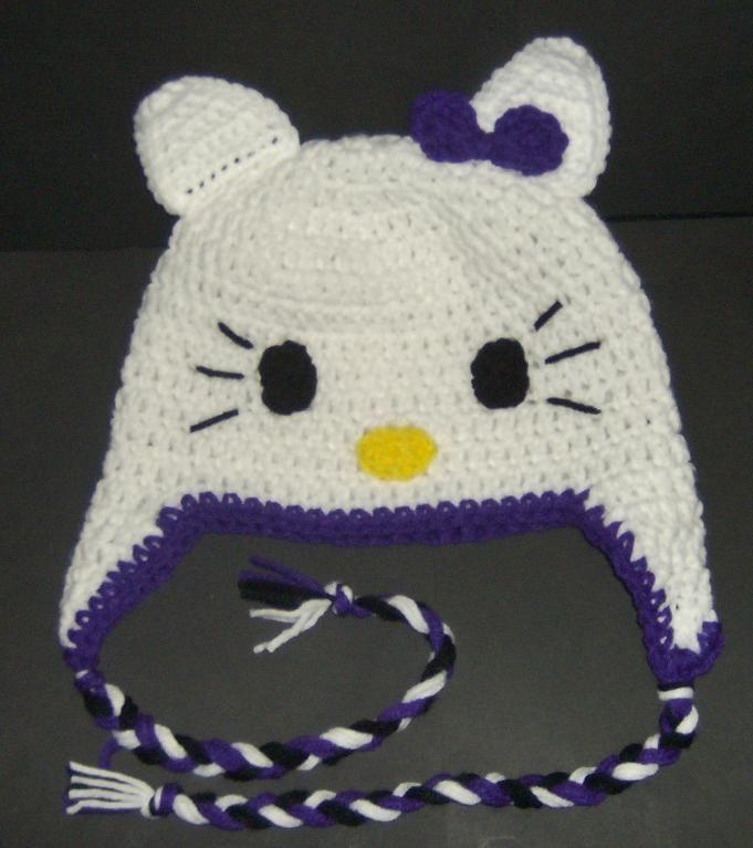Hello Kitty Hat Knitting Pattern Free : I like the purple Crafts Pinterest
