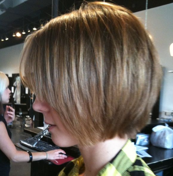 slightly shaggy chin length bob I can probably pull this off right now ...