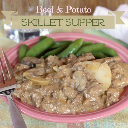 & Potato Skillet Supper | cupcakesandkalechips.com | #beef #potatoes ...
