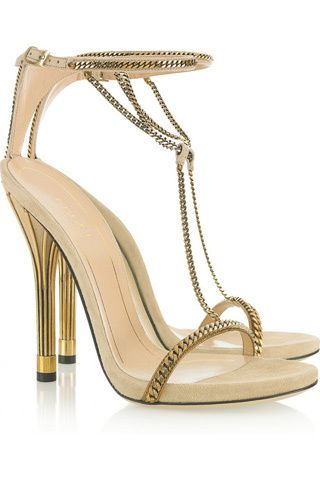 Gucci - super sexy gold sandals, for your mini reception dress