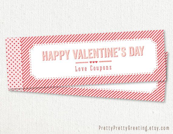 valentine's day coupon book cover