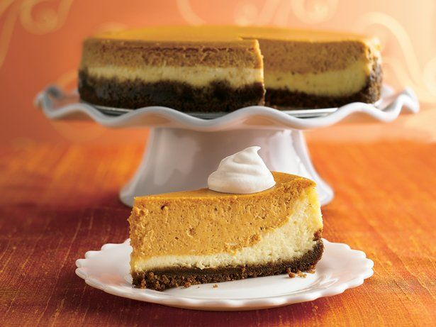 Double Layer Pumpkin Cheesecake | Sweets | Pinterest