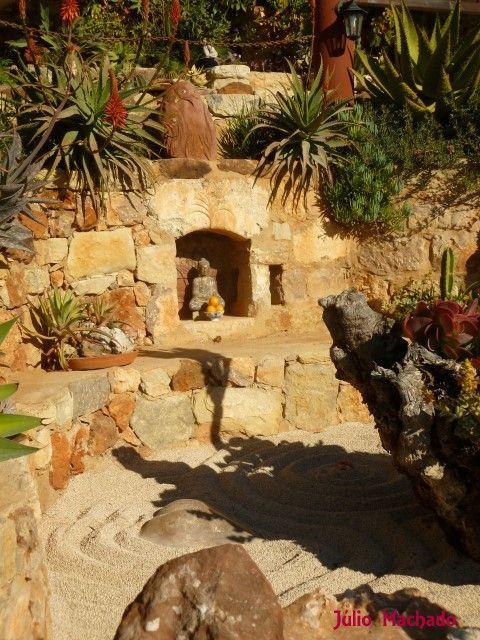 em jardim zen  Os meus pequenos trabalhos com pedras e plantas
