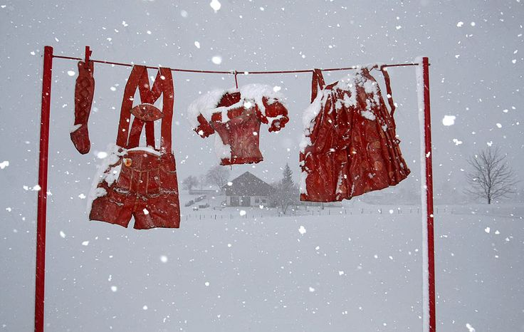 Red and White Christmas in Germany