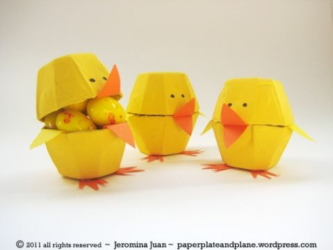 Cute and easy Easter craft with egg cartons.