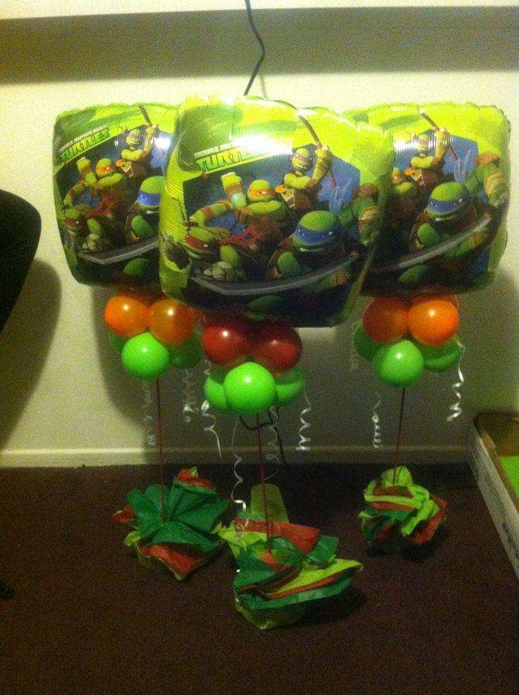 Tmnt centerpieces ninja turtles pinterest for Tmnt decorations