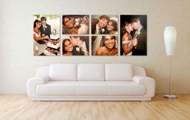 Create an inter-connected canvas prints mural in your home! http://wp.me/p1spPJ-UC #craft #diy #canvasprints #mural