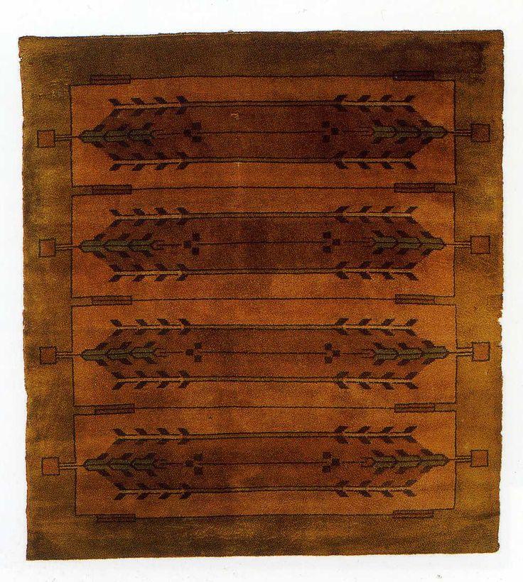 Rug design by frank lloyd wright 1904 browns pinterest - Frank lloyd wright rugs ...