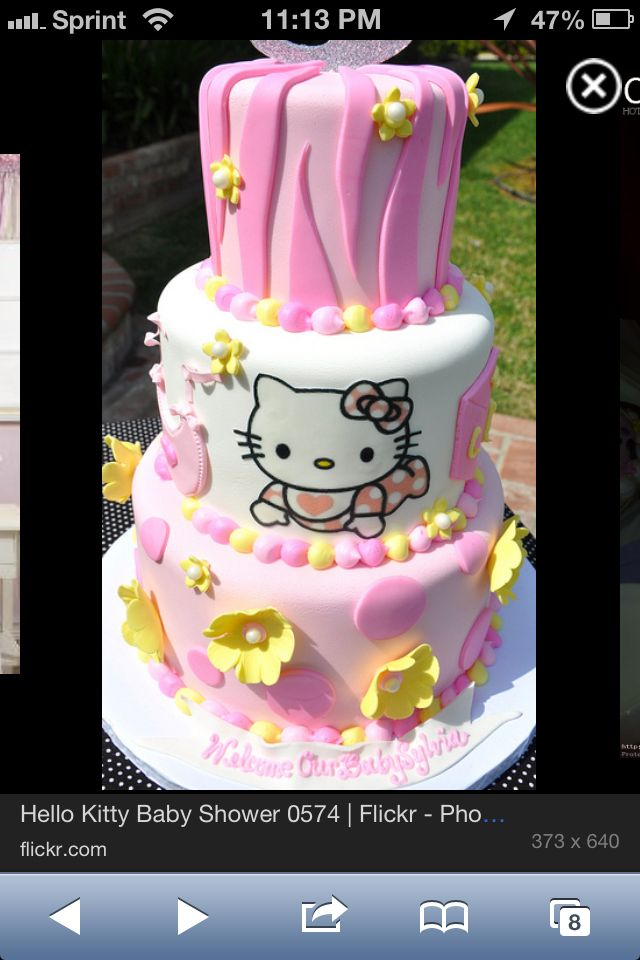 hello kitty baby shower cake baby shower ideas pinterest