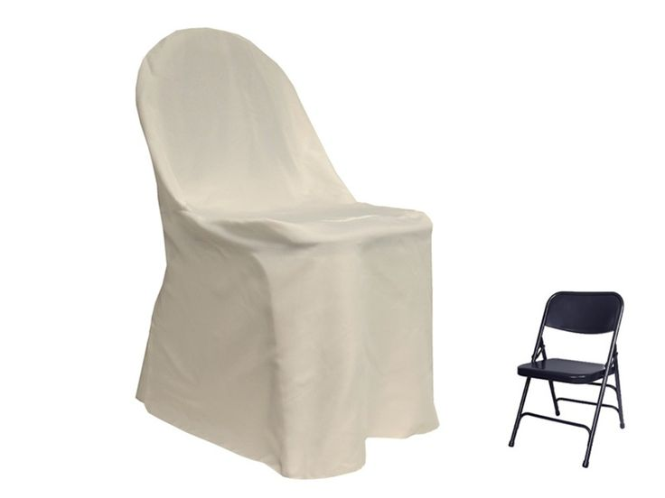 Ivory folding chair covers for rent