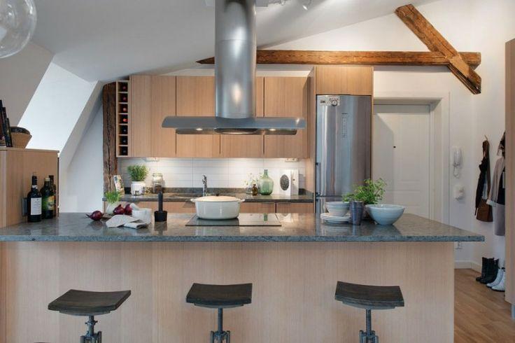 Modern Kitchen With Island Seating Kitchens Pinterest