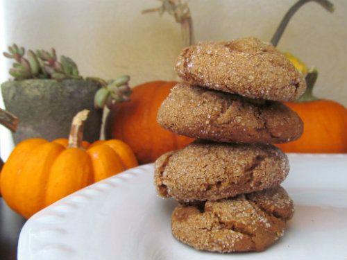 Pumpkin Molasses Cookies- I am not vegan, but had no eggs- these are ...