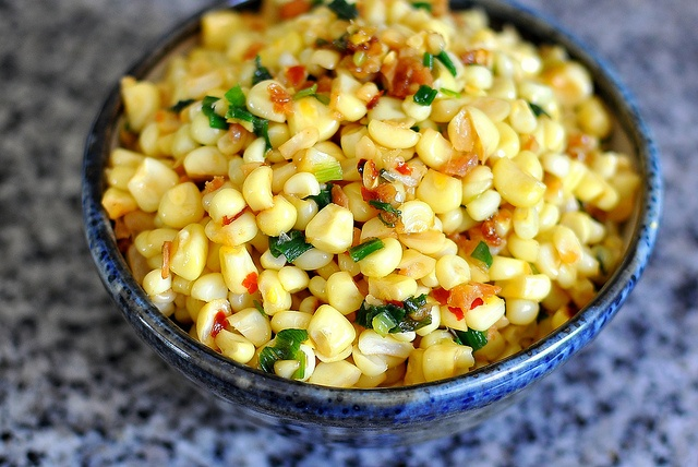 Vietnamese Sauteed Corn with Dried Shrimp, Scallions, and Butter