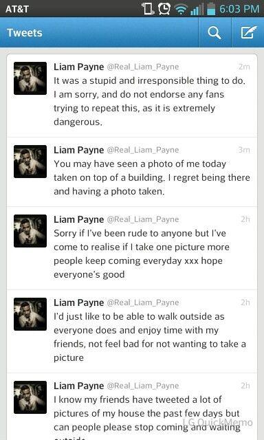 Liams tweets ~Kay Lin