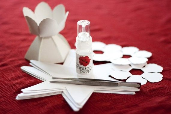 DIYmake your own paper flower wedding favor boxCOMPLETE kit for ...