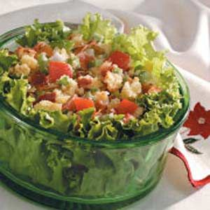 Corn Bread Salad for Two - I also add a couple of boiled eggs. LOVE ...