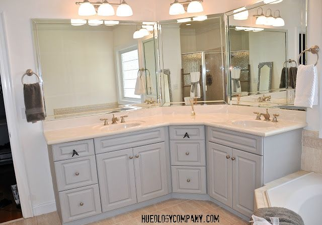 painted thermofoil bathroom cabinets with paris grey chalk paint