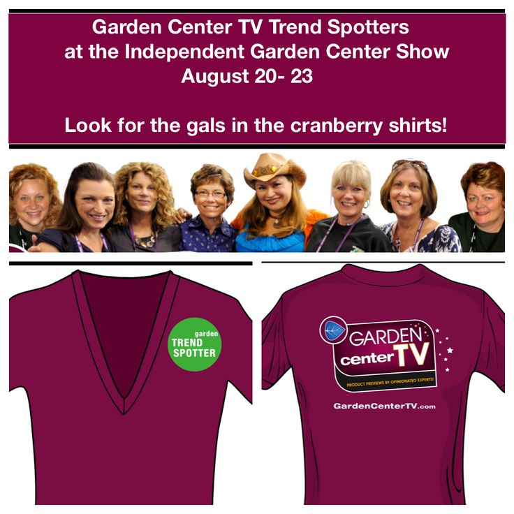 "Meet the Garden Center TV ""Trend Spotters"" who will be reporting from the Independent Garden Center Show in Chicago, Aug 20-23, 2012.  Brenda Haas, Shawna Coronado,Robin Horton,Kylee Buamle, Shirley Bovshow and Mary Ann Newcomer.    Read about it:http://gardencentertv.ning.com/profiles/blogs/independent-garden-center-show-2012-here-we-come"